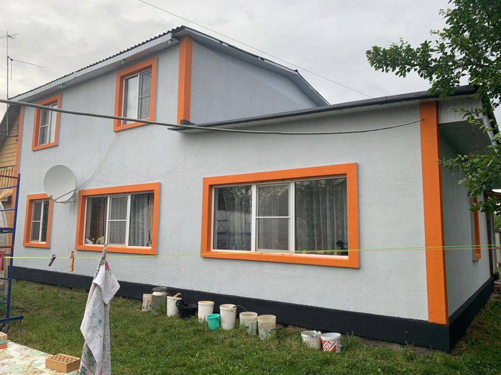 мокрый фасад частных домов-3